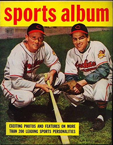Dell Sports Album Magazine - March 1949 - Lou Boudreau Cleveland Indians cover photo