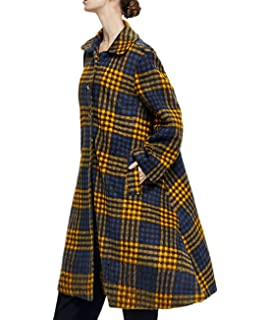 61df88adc25 YESNO AF2 Women Fashion Long Wool Outwear Overcoat Plus Size Wave Printed  Bat-Wing Sleeve