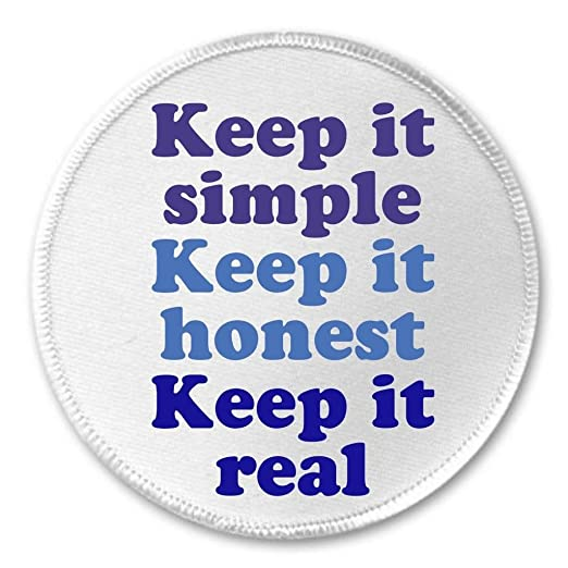 Amazon.com: A&T Designs Keep it simple honest real 3\