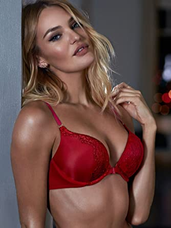 736c04254e5da Image Unavailable. Image not available for. Color  Victoria s Secret  Women s Bombshell Add-2-Cups Ring Strappy Back Push-Up Bra