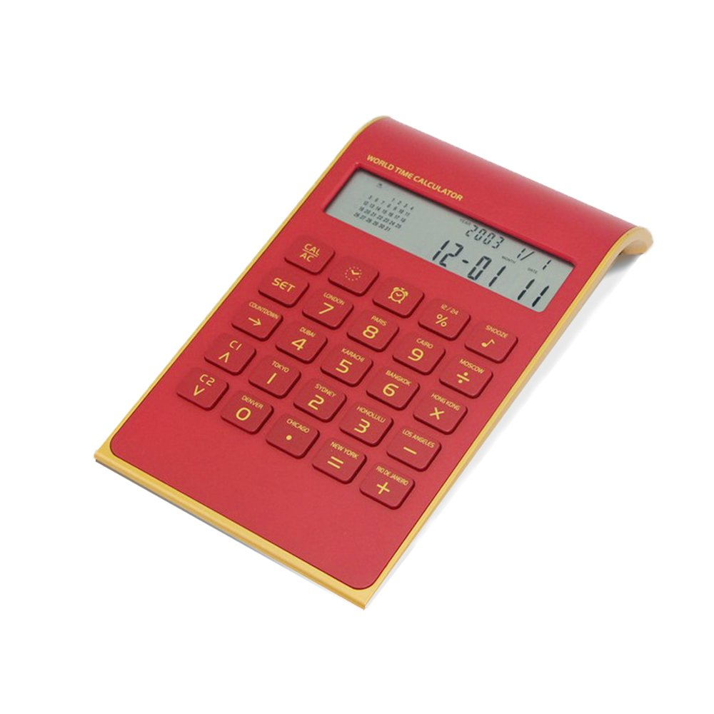 Electronic Desktop Office Calculator Slim Elegant Fashion Design, 10 Digits Battery Powerd Standard Function Desktop Business Calculator with Titled LCD Display Screen for Home & Office