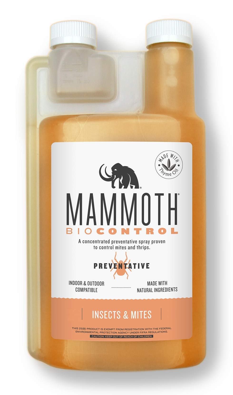 Mammoth Biocontrol Concentrated Preventative Insecticide Spray Foliar 500 ml Indoor & Outdoor Compatible by Mammoth P