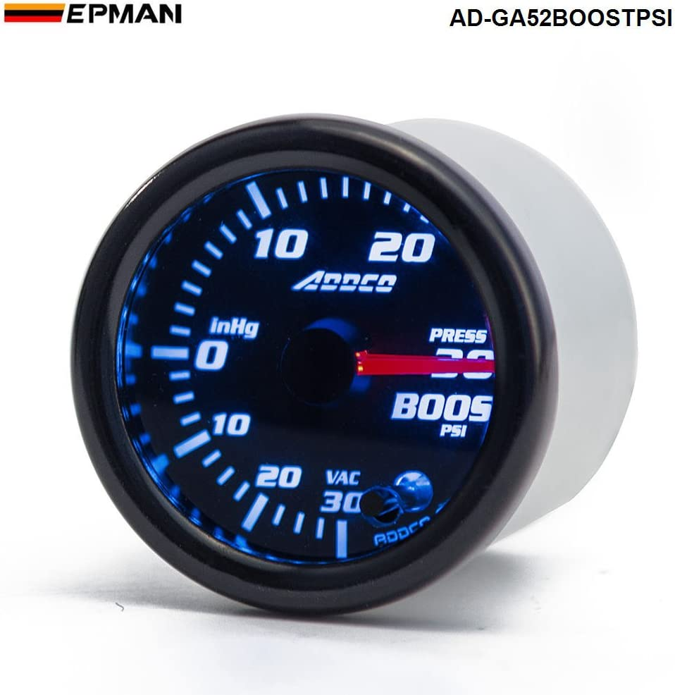 Epman Car Auto 12v 52mm 2 7 Colors Universal Psi Turbo Boost Gauge Led With Sensor And Holder Automotive Amazon Com