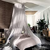 Free Installation,Palace Fine,Ceiling Bed Net/Simple,Princess Wind Dome Nets/Encrypted Thickened Mosquito Nets-A B