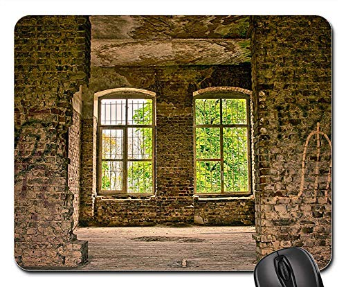 Mouse Pads - Home Window Lost Places Architecture Planks Wall