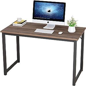 DlandHome 47 inches Large Black Computer Desk, Composite Wood Board, Modern Home Office Desk/Workstation/Table, GCP2JJ-120BW