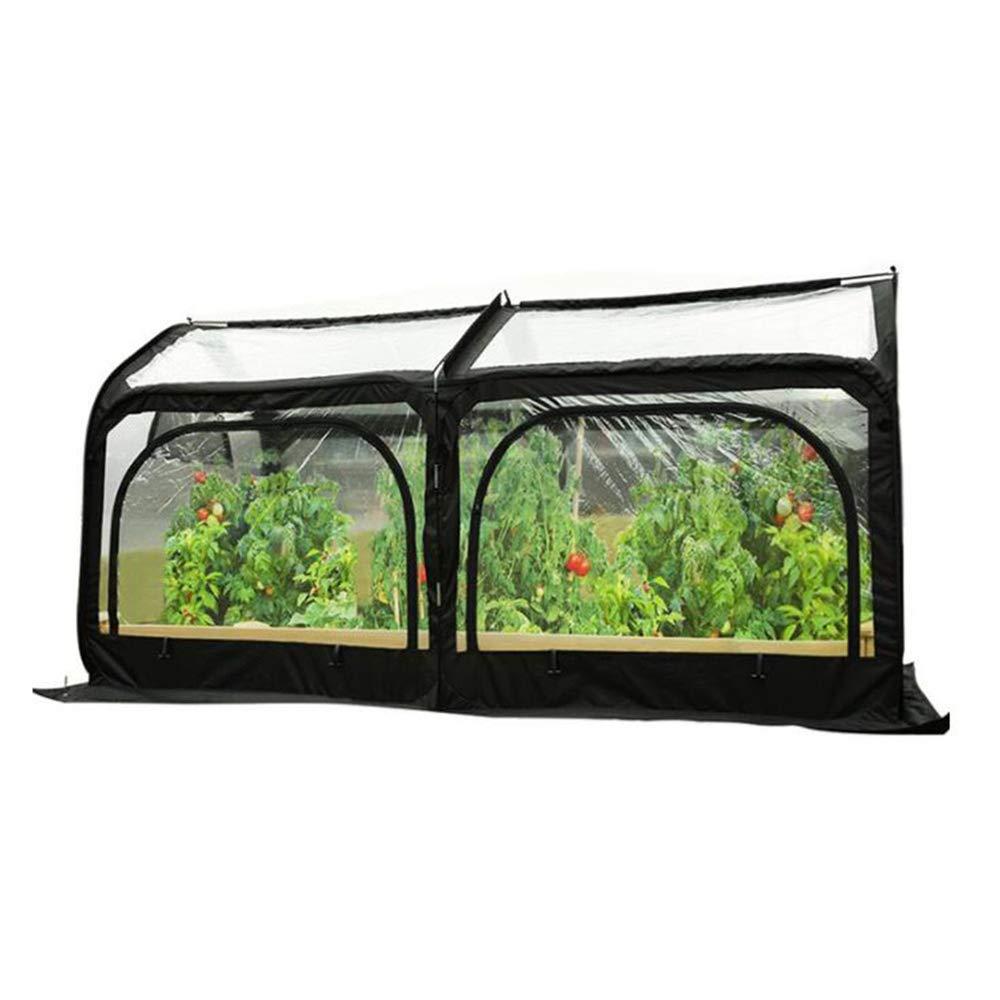Dqm Pop Up Greenhouse Oversized Space Foldable Transparent Pvc Tunnel Walk In Garden Conservatory Portable Green House Garden Plant Waterproof Buy Online In Dominica At Dominica Desertcart Com Productid 147324737