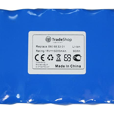 Batería de ion de litio Trade-Shop Premium, 18 V/5000 mAh para ...