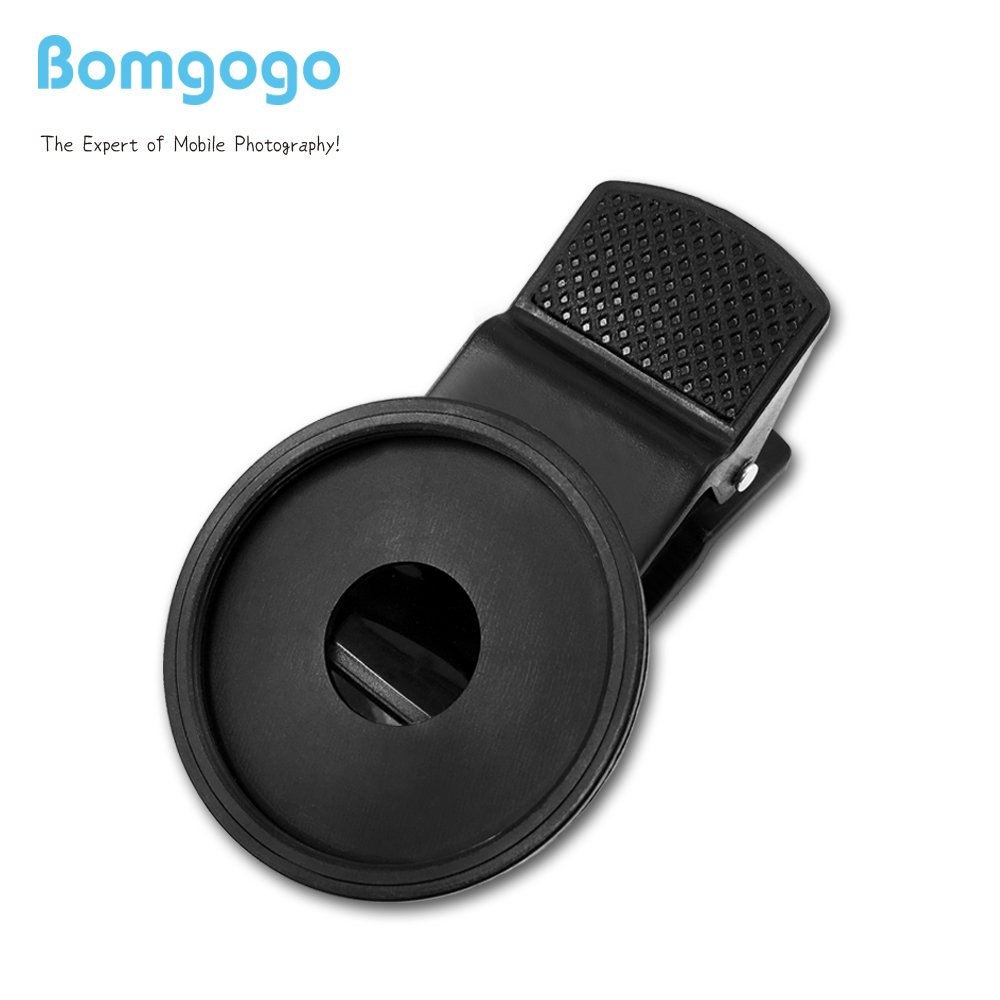 Bomgogo 37mm Universal Long Clip for add on cell phone camera lens, filters use