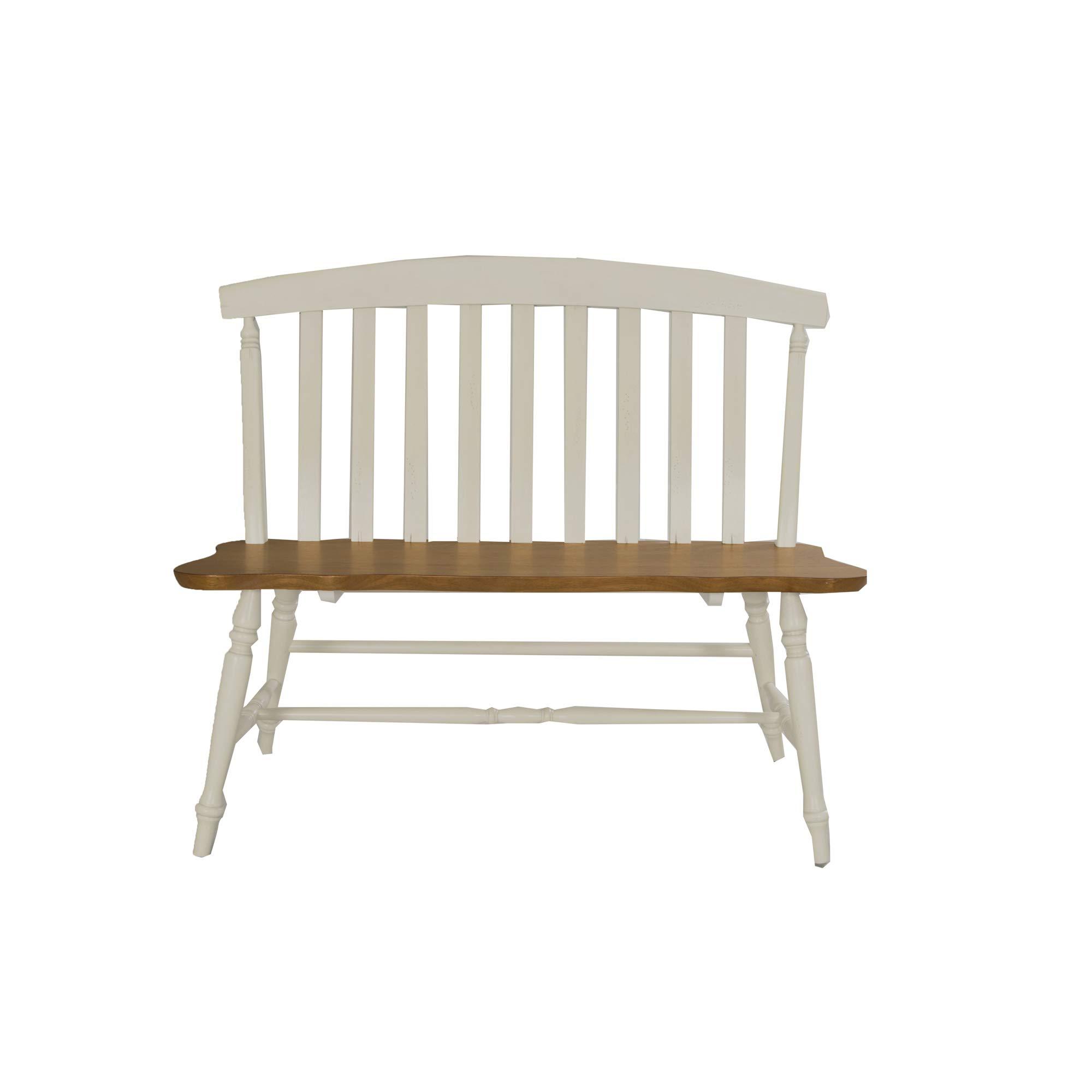 Liberty Furniture Industries Al Fresco III Slat Back Bench, 42'' x 18'' x 35'', Driftwood and Sand by Liberty Furniture INDUSTRIES