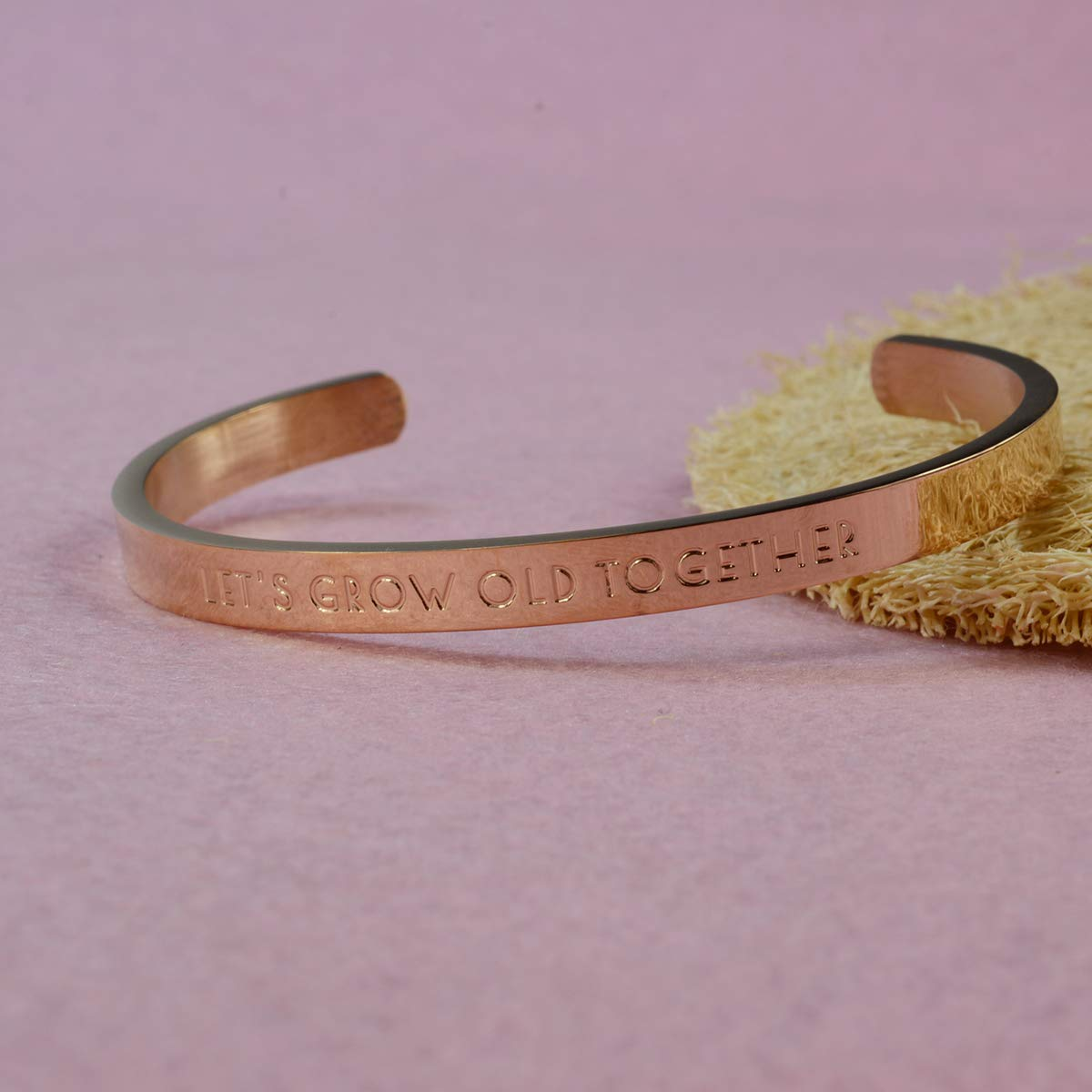 omodofo Mothers Day Classic Stamped Cuff Bangle Love Lettering Adjustable BBF Bracelet for Girl
