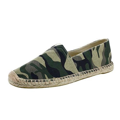 YOUJIA Hombre Clásico Alpargatas Camuflaje Respirable Zapatos Planos Slip-On Zapatillas: Amazon.es: Zapatos y complementos