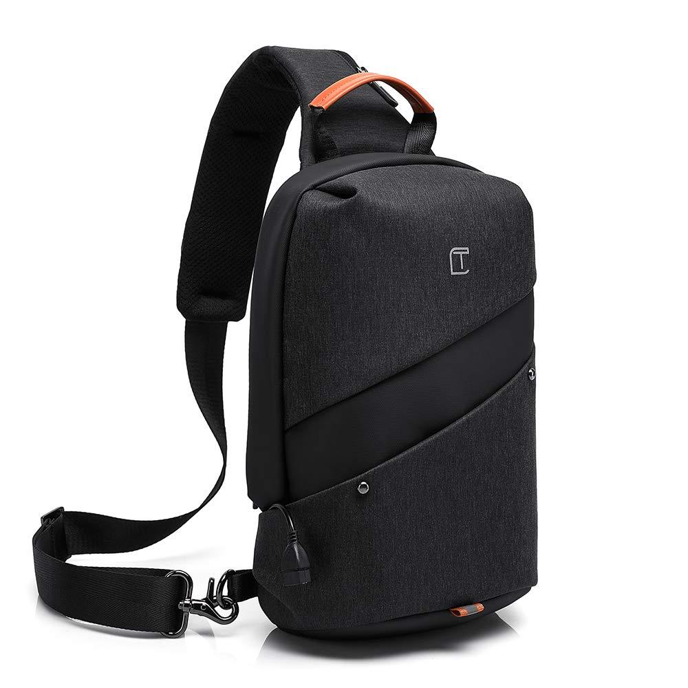 2e4c04999ce8 Mesonoda Sling Bag Crossbody Backpack Travel Shoulder Chest Daypack for Men  & Women Black