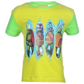 Camisetas con mangas cortas Tortuga Ninja niño: Amazon.es ...