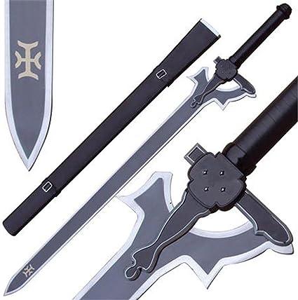 Amazon.com: REAL SWORD SHARP SAO Kirito Elucidator Replica ...