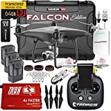 Phantom 4 PRO Obsidian Falcon Kit w/ Firebridge 2 Technology Range Extender, Nanuk 950 Wheeled Case, 3 Batteries, Thor Charger, CF Props & Guards, Filters, 64GB Card & More