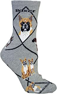 product image for Wheel House Designs Boxer Women's Argyle Socks (Shoe size 6-8.5)