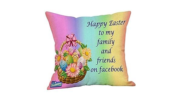 i-uend - Funda de cojín con impresión de Huevo de Pascua ...