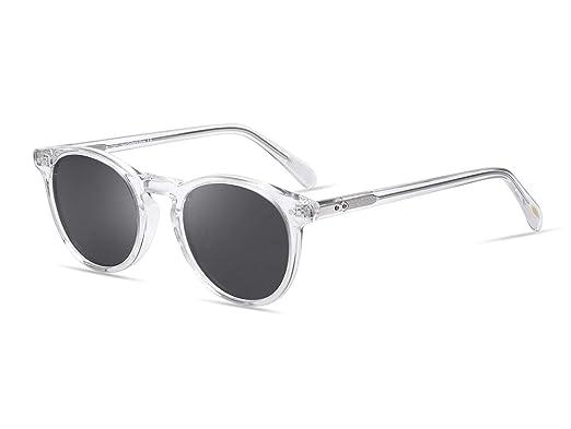 620fa24ddec EyeGlow Vintage Round Sunglasses Women Sunglasses Men Designers 5235 Acetate  material(Amber vs green lens