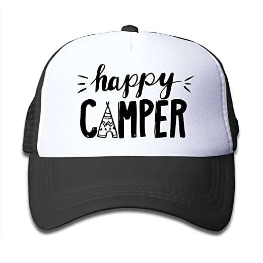 NG/&YY Women Men Baseball Mesh Cap Happy Camper Adjustable Topee