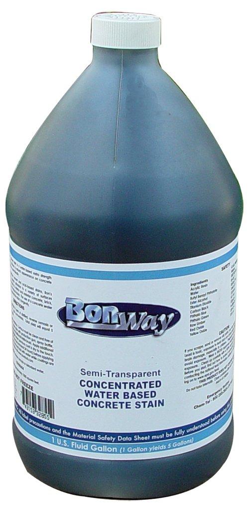 BonWay 32-855 1-Gallon Semi-Transparent Water Based Concrete Stain, Black by BonWay