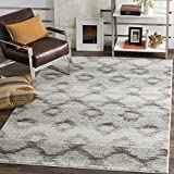 Safavieh Adirondack Collection ADR106P Silver and Charcoal Modern Distressed Area Rug (4′ x 6′) Review