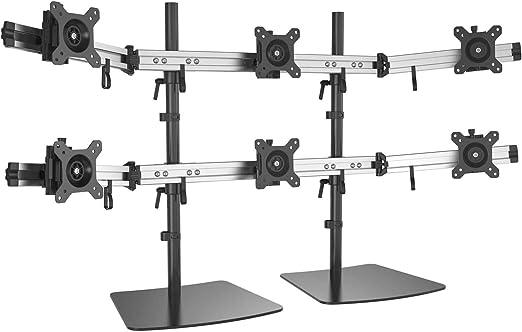 """3 Fach Monitor Halterung Halter Monitor Tischhalterung 15/"""" bis 27 /"""" Zoll Stand"""