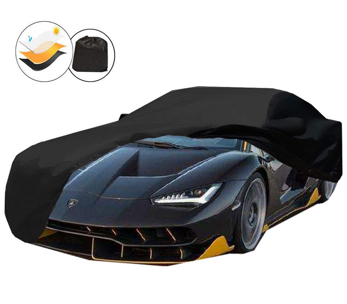 Durable Convertible Black Covers for Indoor Garage Storage iiSPORT Water Resistant Car Cover Custom Fit C6 2005-2013 Corvette Grand Sport