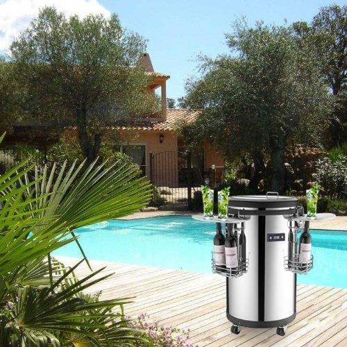 allibert beistelltisch k hlbox ice cube 40 liter braun. Black Bedroom Furniture Sets. Home Design Ideas