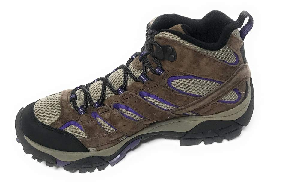 Merrell Women's Moab 2 Vent Mid Hiking Boot, Bracken/Purple, 8 W US by Merrell