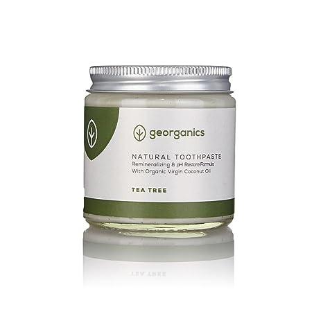 GEORGANICS - Dentífrico Natural Remineralizante con Aceite de Coco - Árbol de Te 60ML -GEORGANICS