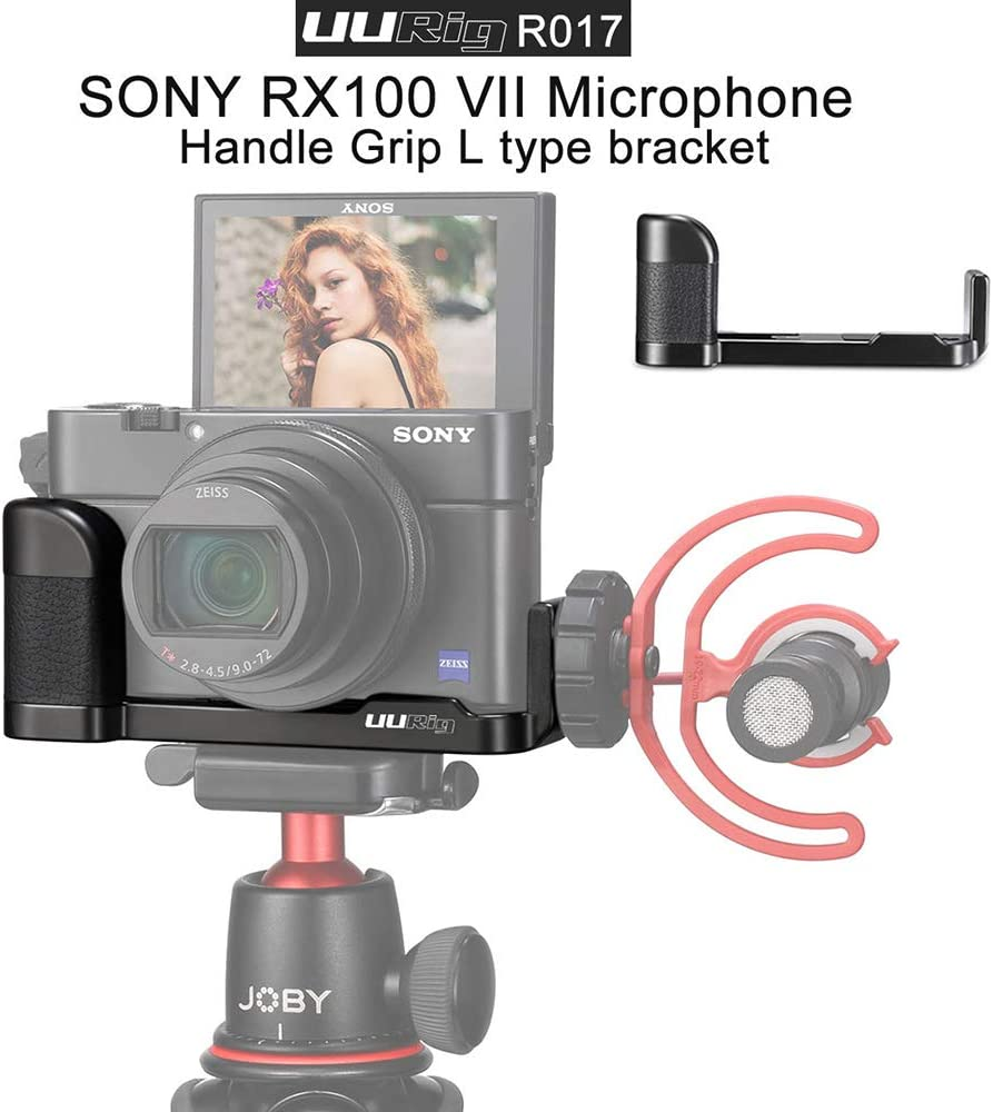 RX100 VII Mikrofonhalterung Vlog-Halterung Griff mit Kaltschuhhalterung und 1//4-Zoll-Stativschraube f/ür Sony RX100 I II III IV VI VII M1 // M2 // M3 // M4 // M5 // M6 // M7 Vlogging-Zubeh/ör