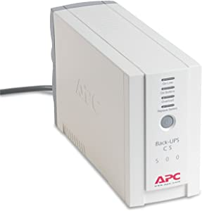 APWBK500 - Apc Back-UPS CS Battery Backup System Six-Outlet 500 Volt-Amps