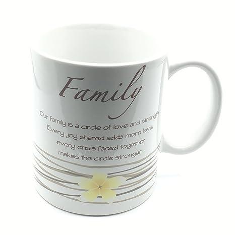 Familia sentimiento de regalo té o café taza regalo nuevo en caja