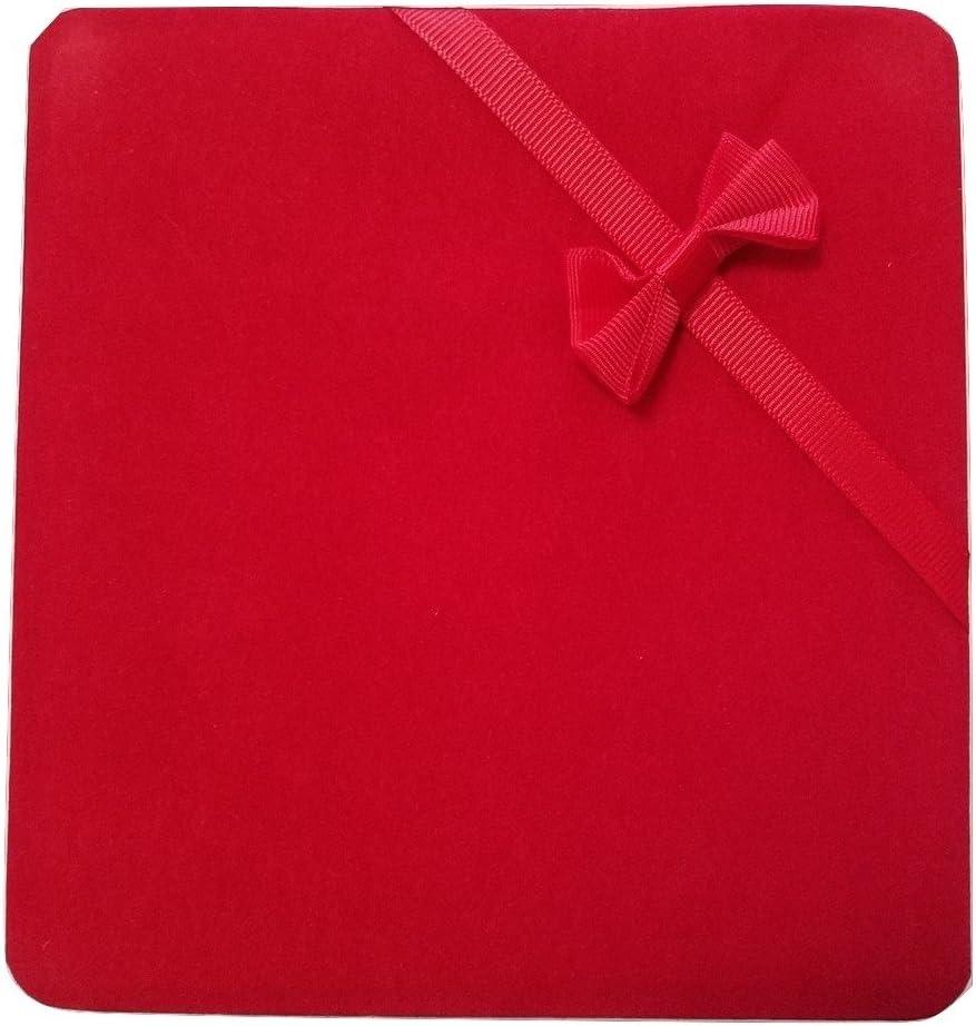 JM Future Velvet Set Gift Box for Jewelry, Necklace/Earring/Bracelet, X-Large, Red