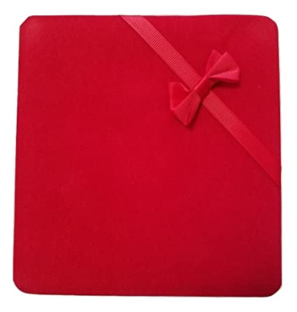Jm Future Velvet Set Gift Box For Jewelry Necklace Earring Bracelet X Large Red