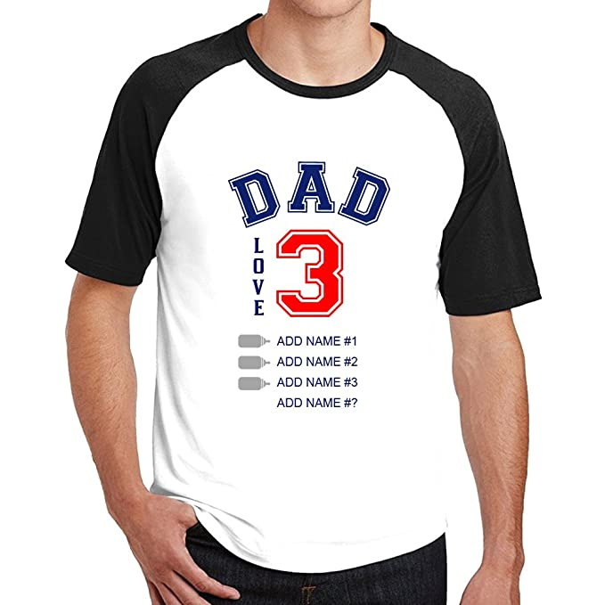864a5e5843f0a Amazon.com: Personalized Fathers Day T Shirt Custom Dad and ...