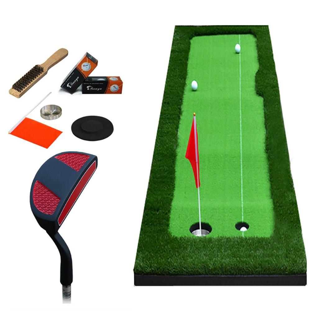 マットゴルフ屋内ゴルフオフィスパター練習フェアウェイキッズ練習ブランケットセット、8 mm厚、2サイズオプション   B07GLSDR9C