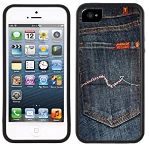 Jeans Back Pocket Handmade iPhone 5 Black Bumper Plastic Case by icecream design