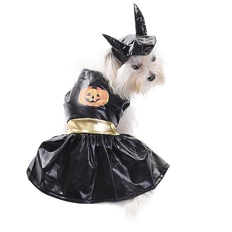 Falda de calabaza negra para perro, para Halloween, disfraz de ...