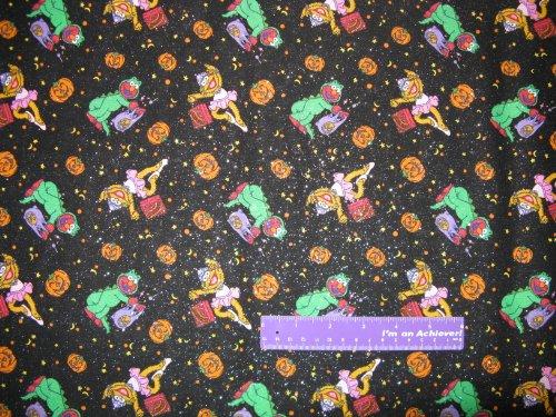 [Sesame Street Elmo Halloween Zoe Abby Cadabby Cotton Fabric BY THE HALF YARD] (Ernie From Sesame Street Costume)