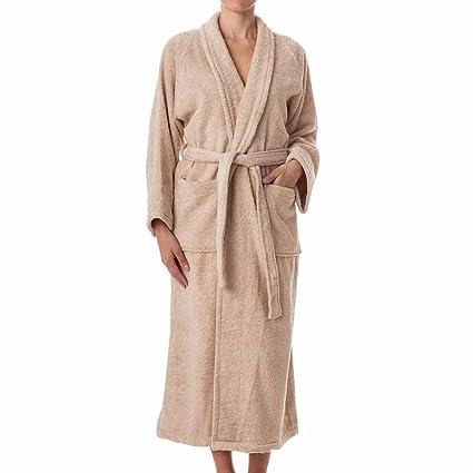 7c2c7b0f91 eLuxurySupply Unisex Terry Cloth Robe - 100% Long Staple Cotton Hotel Spa