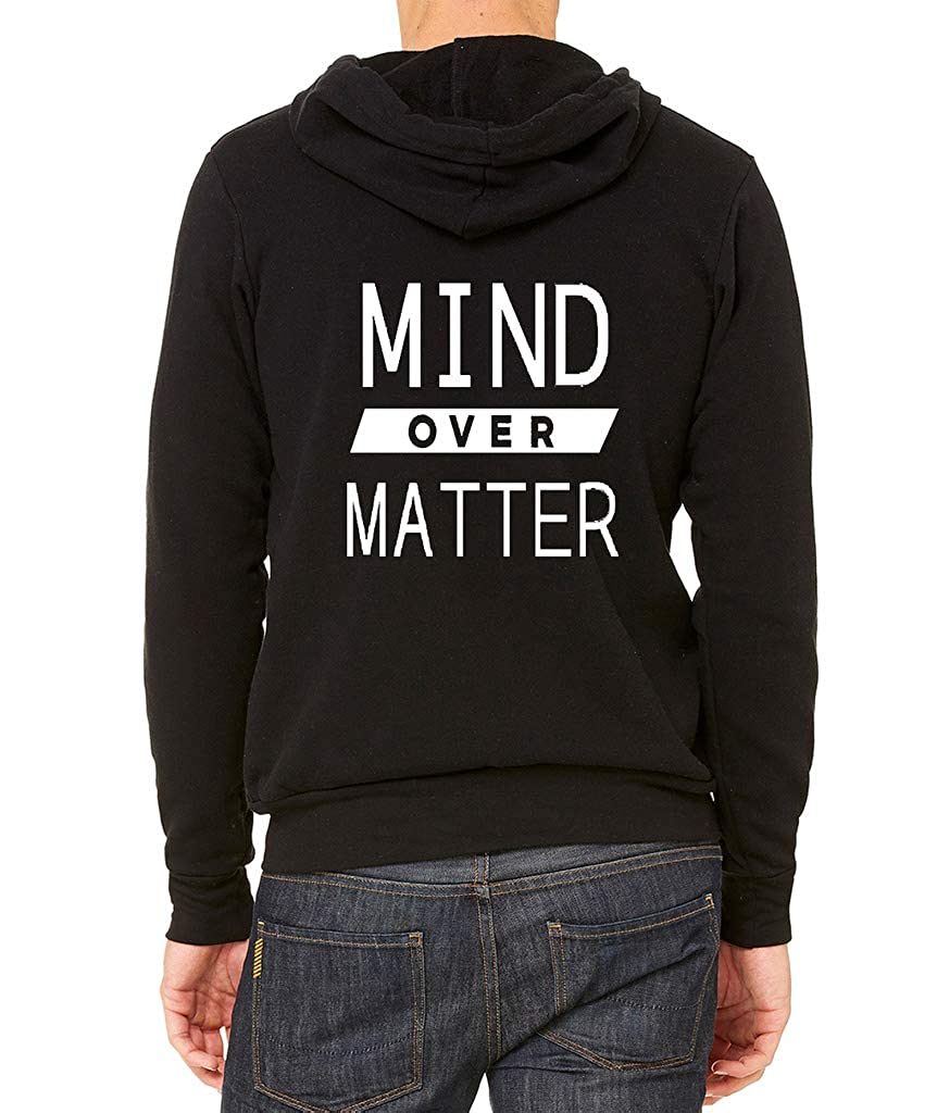 Interstate Apparel Mens Mind Over Matter Black Fleece Zipper Hoodie Black