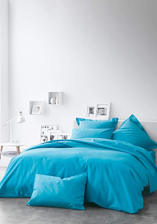TODAY Sábana Bajera-90x190 cm Color Azul, 100% algodón, 90x190 ...