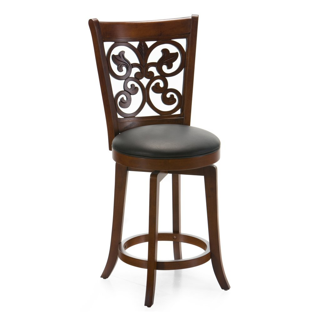 Amazon.com: Bonaire 24 in. Swivel Counter Stool - Brown: Kitchen ...