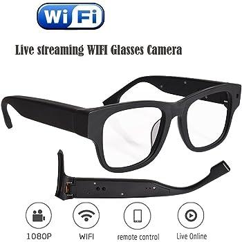 LFIN WiFi Cámara oculta anteojos espía anteojos con grabadora de vídeo  digital Streaming en vivo d9983cfa36