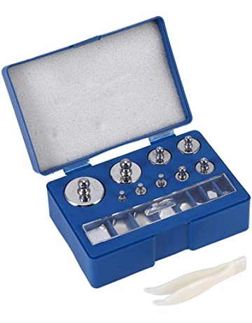 Acogedor - Juego de 17 pesas de precisión para calibración, peso de precisión de 10