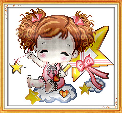 - Happy Forever Cross Stitch Cartoon, the star baby (girl)