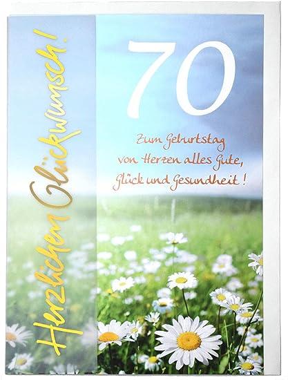 Tarjeta de cumpleaños A4 para el 70. Pérgola de flores con pergamino.: Amazon.es: Oficina y papelería