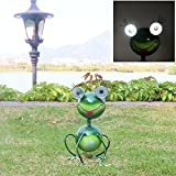 G-Solar Solar Powered LED Light Animal Outdoor ?Garden? Patio?Lawn? metal frog Decorate